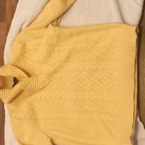 Yellow Cozy Cable Knitt Sweater